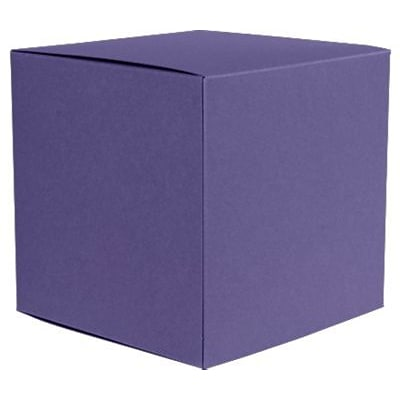 LUX® Medium Cube Gift Boxes, 3 17/32 x 3 9/16 x 3 17/32, Wisteria Purple, 10 Qty (MCUBE-106-10)