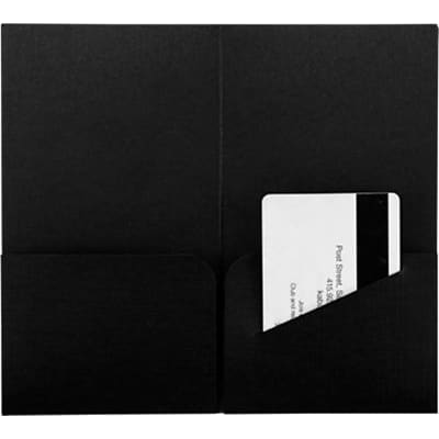 LUX® Key & Gift Card Mini Folders, 3 3/8 x 6, Black Linen, 250 Qty (KHF-BLI-250)