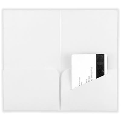 LUX® Key & Gift Card Mini Folders, 3 3/8 x 6, White Linen, 1000 Qty (KHF-WLI-1M)