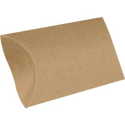 LUX® Small Pillow Boxes, 2 x 3/4 x 3, 18 pt. Grocery Bag Brown, 250 Qty (SPB-GB-250)