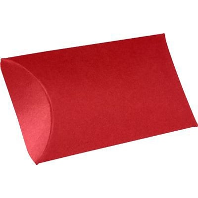 LUX® Small Pillow Boxes, 2 x 3/4 x 3, Ruby Red, 10 Qty (LUX-SPB-18-10)