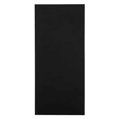 LUX® Pocket Folders, 4 x 9, Black Linen, 50 Qty (49F-BLI-50)