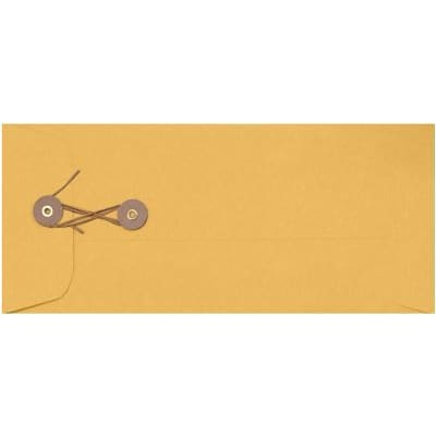LUX #10 Button & String Envelopes (4 1/8 x 9 1/2) 250/Box, 28lb. Brown Kraft (10BS-28BK-250)