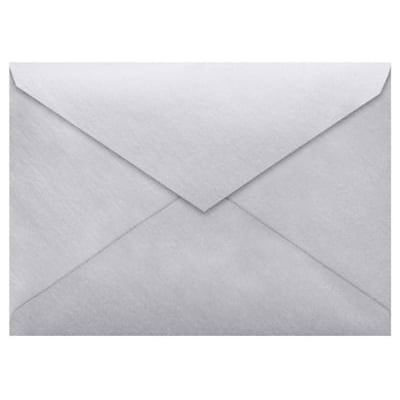 LUX Lee BAR Envelopes (5 1/4 x 7 1/4) 500/Box, Silver Metallic (LEEBAR-06-500)