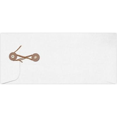 LUX #10 Button & String Envelopes (4 1/8 x 9 1/2) 250/Box, 28lb. White (10BS-28W-250)