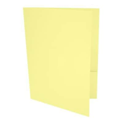LUX® Presentation Folders, 9 x 12, Lemonade, 500 Qty (LUX-PF-15-500)