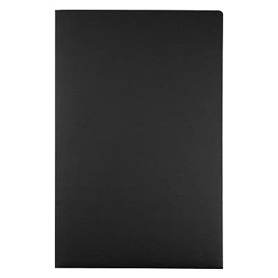LUX® Presentation Folders, 9 1/2 x 14 1/2, Black Linen, 1000 Qty (LEPF-BLI-1M)