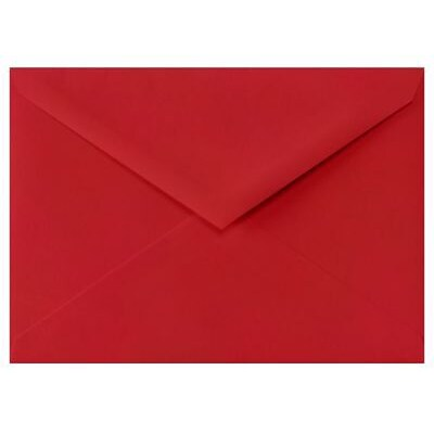LUX 4 BAR Envelopes (3 5/8 x 5 1/8) 50/Box, Ruby Red (LUX-4BAR-18-50)