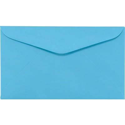 LUX #6 1/4 Regular Envelopes (3 1/2 x 6) 50/Box, Bright Blue (WS-0073-50)