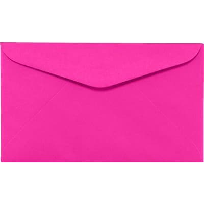 LUX #6 1/4 Regular Envelopes (3 1/2 x 6) 1000/Box, Bright Fuchsia (WS-0078-1M)