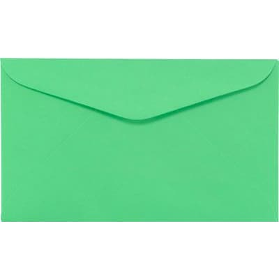 LUX #6 1/4 Regular Envelopes (3 1/2 x 6) 50/Box, Bright Green (WS-0072-50)