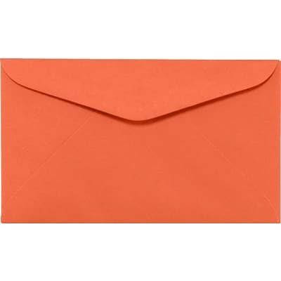 LUX #6 1/4 Regular Envelopes (3 1/2 x 6) 500/Box, Bright Orange (WS-0067-500)