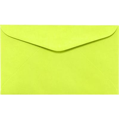 LUX #6 1/4 Regular Envelopes (3 1/2 x 6) 500/Box, Electric Green (WS-0071-500)