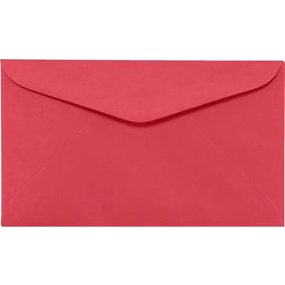 LUX #6 1/4 Regular Envelopes (3 1/2 x 6) 1000/Box, Holiday Red (WS-0069-1M)