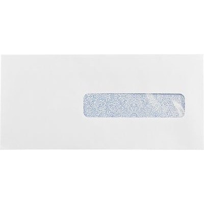 LUX #10 1/2 Window Envelopes (4 1/2 x 9 1/2) 50/Box, 24lb. White w/ Sec Tint