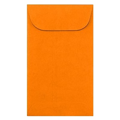 LUX #5 1/2 Coin Envelopes (3 1/8 x 5 1/2) 1000/Box, Bright Orange (512CO-BO-1M)