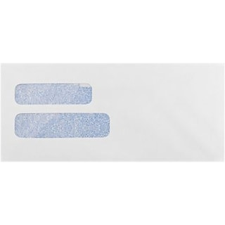 LUX #10 Double Window Envelope, 4 1/8 x 9 1/2, White, 250/Pack (WS-3342-250)