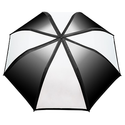 Natico Gradient Umbrella 58 Arc Black and White (60-122-BK-WH)
