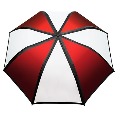 Natico Gradient Umbrella 58 Arc Red and White (60-122-RD-WH)