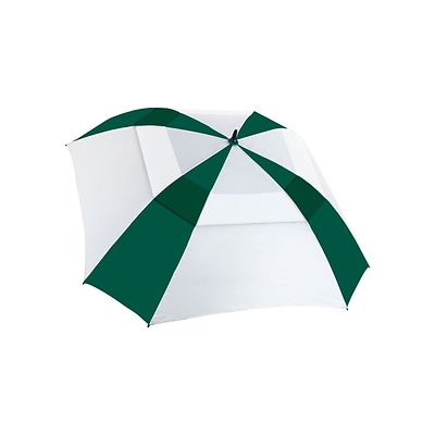 Natico Vented Square Deal Umbrella 62 Arc Green and White (60-62-GN-WH)