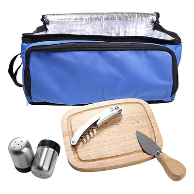 Natico Picnic Set Cooler Bag 6 Piece Blue (60-910-BL)