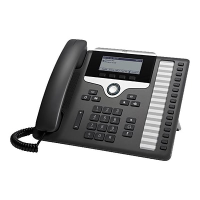 Cisco™ 16 Line Wired IP Phone; Black (CP-7861-K9=)