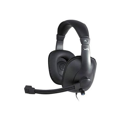 Cyber Acoustics AC-968 Over-the-Head Headset; Black