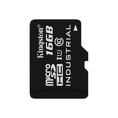 Kingston® SDCIT/16GBSP Industrial Temperature Class 10 UHS-I 16GB microSDHC Memory Card