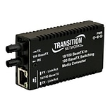 Transition Networks® Mini Fast Ethernet Transceiver/Media Converter (M/E-PSW-FX-02-NA)