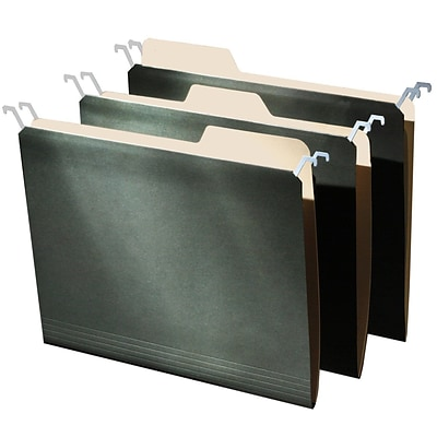 Find It®, Tab View Hanging File Folders, Letter, 9/Pack, Green (FT07032)