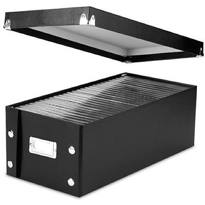Snap-N-Store; DVD Storage Boxes, 15.5 x 5.5 x 7.625, 2 Boxes/Pack, Black (SNS01618)