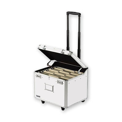 Vaultz® Locking Mobile File Chest, Letter/Legal, White (VZ00168)