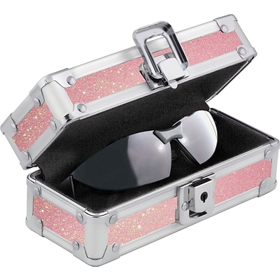 Vaultz®; Locking Sports Sunglass Case, Pink Bling (VZ00720)
