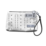 Vaultz®; Locking Wristlet, 5.5 x 8 , White with Studs (VZ00763)