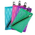 Vaultz®; Mesh Storage Bags, 4/Pack, Assorted Colors and Sizes (VZ03483)