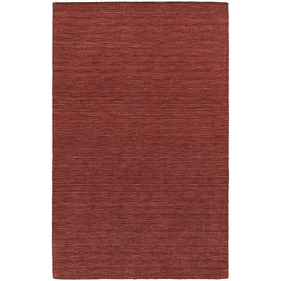 StyleHaven Transitional Solid Shag 100% Wool 8 X 10 Red Area Rug (WANO271038X10L)