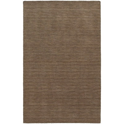 StyleHaven Transitional Solid Shag 100% Wool 8 X 10 Tan Area Rug (WANO271048X10L)