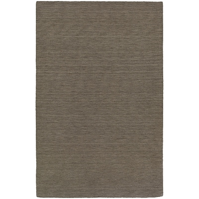 StyleHaven Transitional Solid Shag 100% Wool 6 X 9 Green Area Rug (WANO271056X9L)