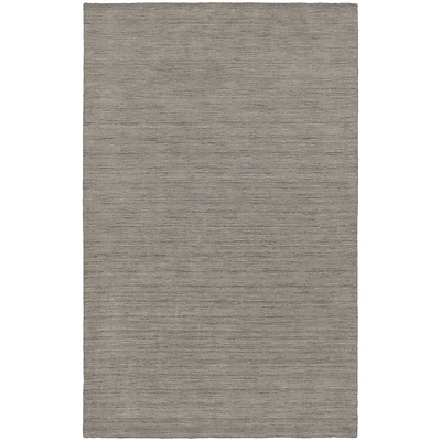 StyleHaven Transitional Solid Shag 100% Wool 5 X 8 Grey Area Rug (WANO271085X8L)