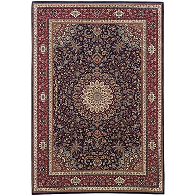 StyleHaven Traditional Polypropylene 4X 59 Blue/Red Area Rug (WARI095B34X6L)