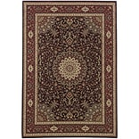 StyleHaven Polypropylene 4X 59 Brown/Red Area Rug