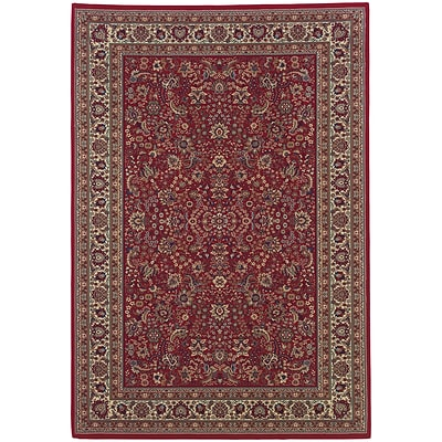 StyleHaven Traditional Polypropylene 53 X 79 Red/Ivory Area Rug (WARI113R35X8L)