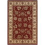 StyleHaven Polypropylene 53 X 79 Red/Ivory Area Rug