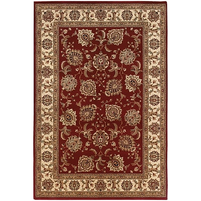 StyleHaven Traditional Polypropylene 4X 59 Red/Ivory Area Rug (WARI117C34X6L)
