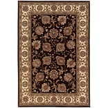 StyleHaven Polypropylene 710 X 11 Brown/Ivory Area Rug
