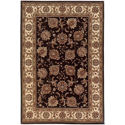StyleHaven Traditional Polypropylene 67 X 96 Brown/Ivory Area Rug (WARI117D36X9L)