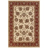 StyleHaven Polypropylene 53 X 79 Ivory/Red Area Rug