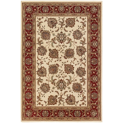 StyleHaven Traditional Polypropylene 710 X 11 Ivory/Red Area Rug (WARI117J38X11L)