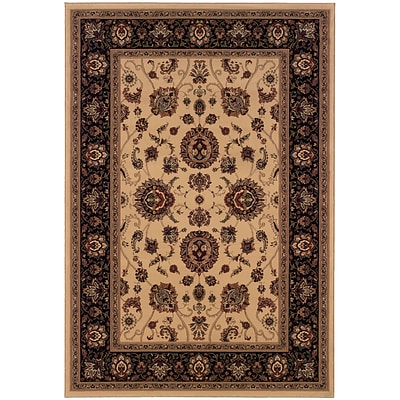 StyleHaven Traditional Polypropylene 710 X 11 Ivory/Black Area Rug (WARI130/78X11L)