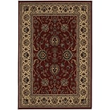StyleHaven Traditional Polypropylene 53 X 79 Red/Ivory Area Rug (WARI130/85X8L)